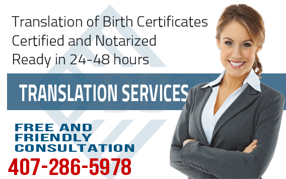 Russian translation of Birth Certificate,fast translation service,Russian translation,certified and notarized