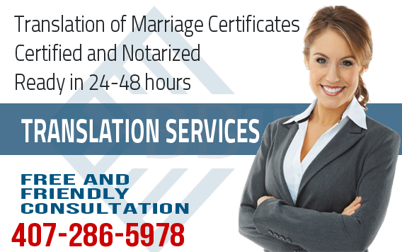 Arabic translation of Marriage Certificate,fast translation service,Arabic translation,certified and notarized