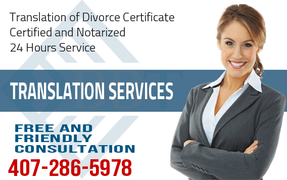 certified translation of divorce certificate for immigration, translate divorce certificate, divorce, USCIS, translation of certificates